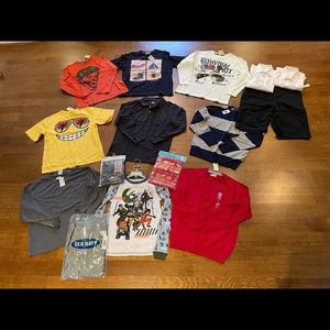 NWT boys size 10 12 14 uniform tops bottom pj